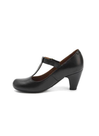Alçak Topuklu Deri Ayakkabı-Beta